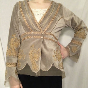 Nataya Vintage Velvet Jacket EUC